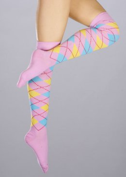 Womens Baby Pink Schoolgirl Knee Socks