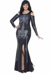 Halloween Plus Size Curves Skeleton Costume