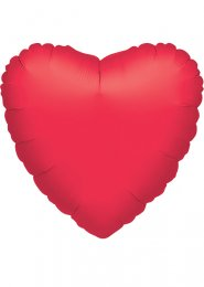 Inflated Jumbo Red Heart Shaped XL Helium Balloon