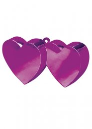 Magenta Pink Heart Balloon Weight