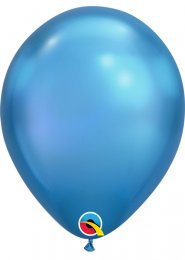 Qualatex Chrome Blue Latex Balloons Pk5