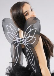 Halloween Gothic Black Fairy Wings