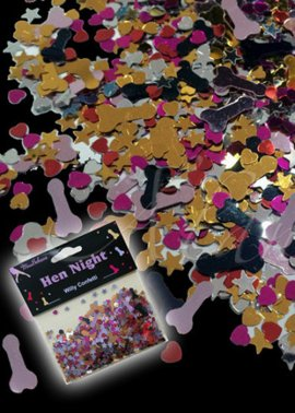 Hen Party Willy Table Confetti