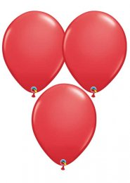 Large Standard Red 16 Inch Latex Party Balloons Pack 3
