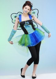 Girls and Teens Peacock Diva Costume