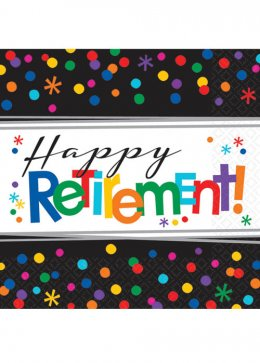 Happy Retirement Party Napkins Pk16