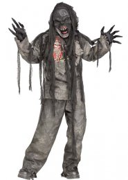 Kids Halloween Burning Zombie Costume