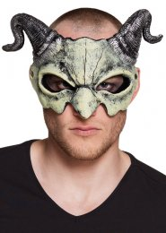 Deluxe Halloween Demon Skull Mask with Horns