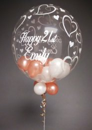 Personalised 21st Birthday Multi Balloon Filled Bubble Balloon