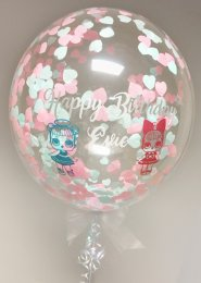 Personalised LOL Dolls Confetti Filled Bubble Balloon