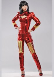 Womens Deluxe Iron Man Style Superhero Costume