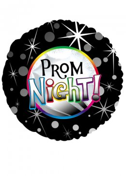 Prom Night Round Foil Helium Balloon
