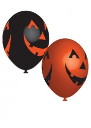 Gothic Pumpkin Halloween Party Balloons Pack 6