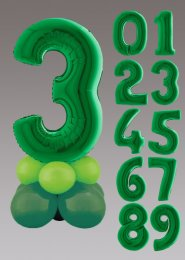 Inflated Green Large Number Balloon Centrepiece