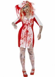 Halloween Plus Size Curves Zombie Nurse Costume