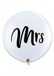 Inflated Giant 3ft Mrs Wedding Balloon