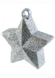 Silver Glitter Star Helium Balloon Weight