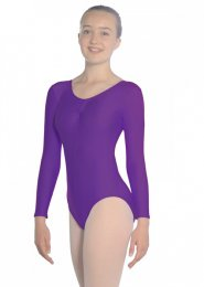 Purple Martene Long Sleeve Dance Leotard
