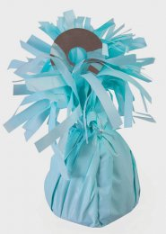 Pale Blue Foil Tassel Helium Balloon Weight