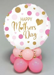 Pink Confetti Mothers Day Inflated Balloon Centrepiece