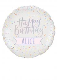 Large Inflated Customisable Happy Birthday Helium Balloon
