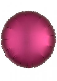 Inflated Pomegranate Pink Satin Luxe Circle Helium Balloon