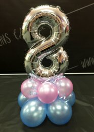Mini Silver Number 8 Balloon Centrepiece