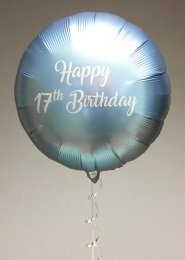 Inflated Personalised Blue Foil Balloon