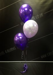 Purple Hen Party Miss To Mrs 3 Balloon Cluster