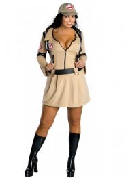 Ladies Plus Size Ghostbuster Costume