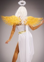 Gold Feather Angel Wings