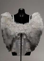 Halloween Gothic Fallen Angel Medium Feather Wings