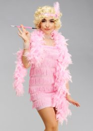 Womens Petite 1920s Pink Flapper Girl Costume