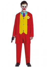 Teen Size Red The Joker Movie Style Costume