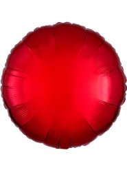 Inflated Metallic Red Circle Shaped Helium Balloon