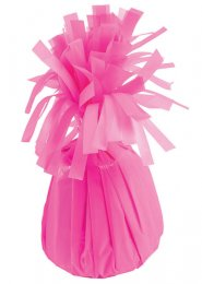 Neon Pink Foil Tassel Helium Balloon Weight