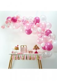 Pink and White Balloon Arch Kit