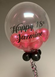 Personalised 18th Birthday Multi Balloon Filled Bubble Balloon