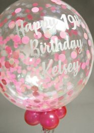 Personalised 19th Birthday Confetti Filled Bubble Balloon