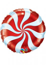 Christmas Red Candy Swirl Helium Balloon