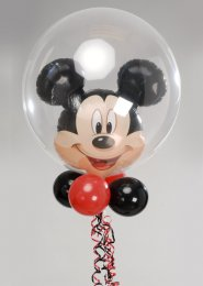 Mickey Mouse Double Bubble With Balloon Collar And Base