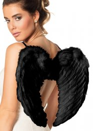 Fallen Angel Small Black Feather Wings