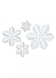Christmas Small Sparkle Snowflake Decorations Pk4