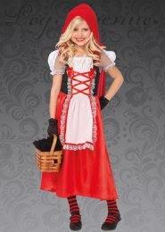 Kids Leg Avenue Long Red Riding Hood Costume