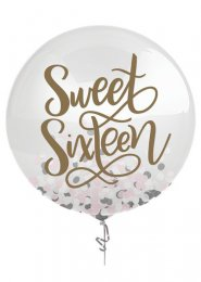 Large Sweet 16 Confetti Filled Balloon
