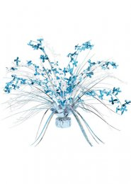 Blue Christening Foil Spray Centrepiece Balloon Weight