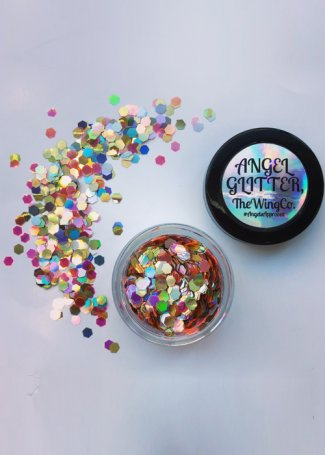 Gold Silver & Rose UV Holographic 24 Karat Chunky Angel Glitter