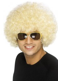 70s Disco Funky Blonde Curly Afro Wig