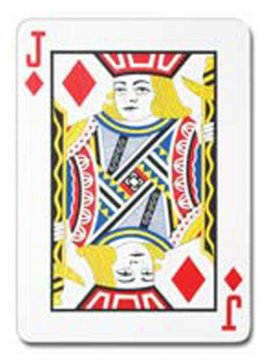 Jumbo Jack of Diamonds Playing Card Decoration