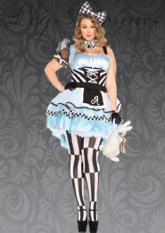 Plus Size Leg Avenue Psychadelic Alice Costume